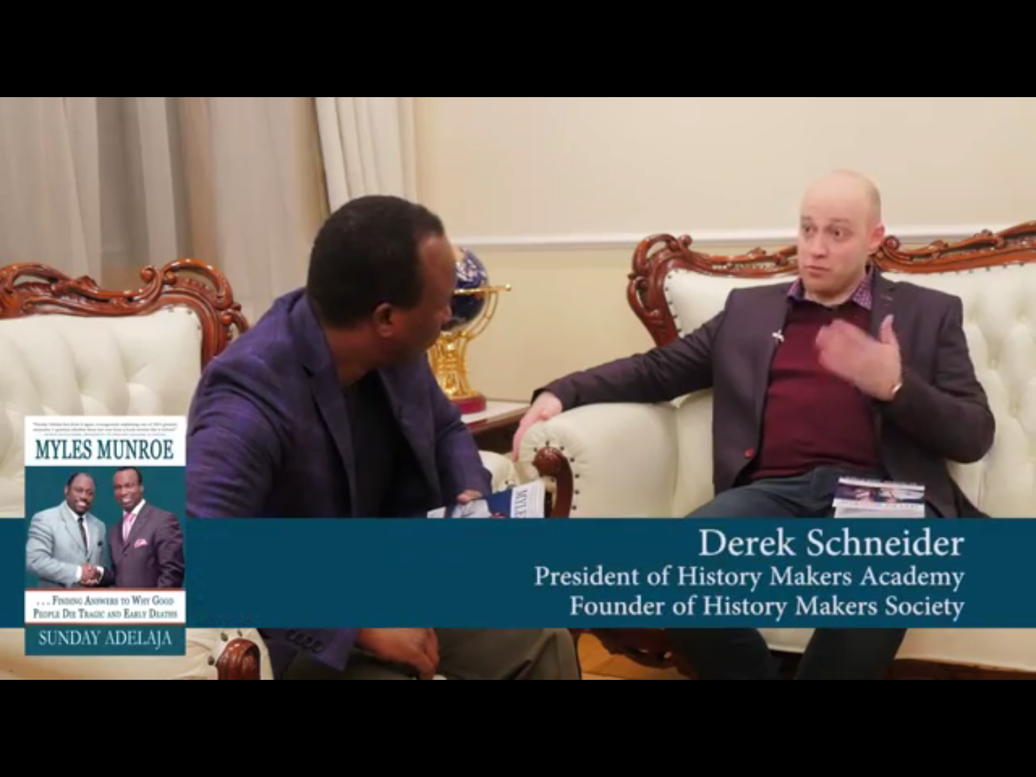 Derek Schneider Gets Cover Endorsement for Myles Munroe Book